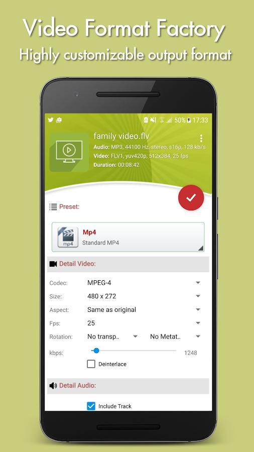 دانلود Video Format Factory Premium 5.2 - برنامه تبدیل فرمت پر امکانات اندروید