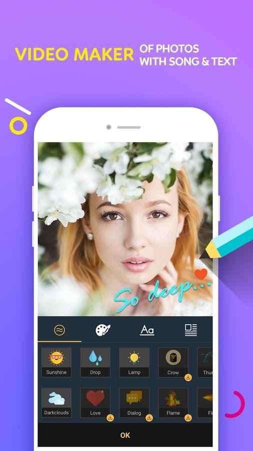 دانلود Video Maker Of Photos With Song & Video Editor 1.1.5 - برنامه پر امکانات ساخت موزیک ویدئو اندروید !