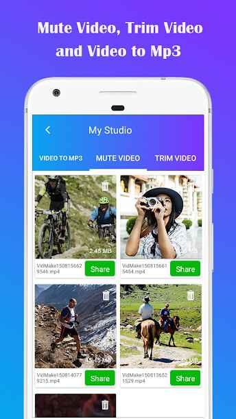 دانلود Video To MP3: Mute Video /Trim Video/Cut Video Pro 1.15 - برنامه پر امکانات تبدیل ویدئو به فایل صوتی اندروید