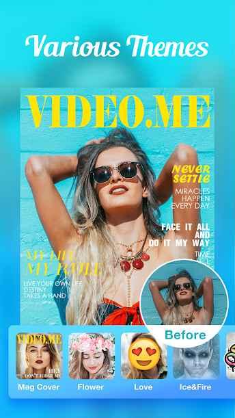 دانلود Video.me - Video Editor, Video Maker, Effects 1.16.1 - برنامه جالب ویرایش و ساخت ویدئو اندروید !