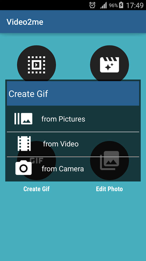 دانلود Video2me Pro 1.6.2 - اپلیکیشن بی نظیر ساخت تصاویر GIF اندروید