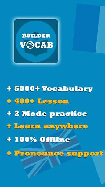 دانلود Vocabulary Builder 4.3.10 - برنامه اندروید یادگیری واژگان زبان انگلیسی