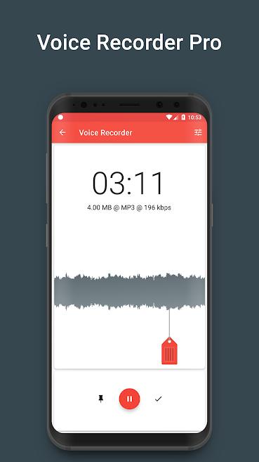 دانلود Voice Recorder (Ads Free) 4.2.0 - برنامه پر امکانات ضبط صدا اندروید !