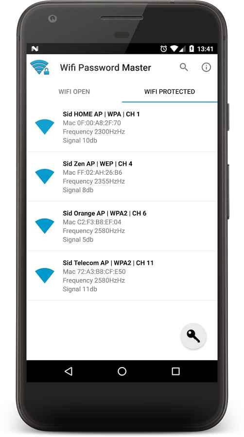 دانلود WIFI PASSWORD MASTER Full 10.7.0 - تولید پسورد قوی وای فای اندروید