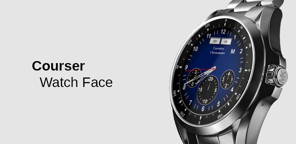 Watch Face Courser Classic - Wear OS Smartwatch