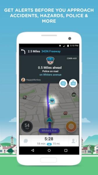 دانلود Waze - GPS, Maps & Traffic 4.53.0.0 - برنامه ترافیک و جهت یابی اندروید + بتا