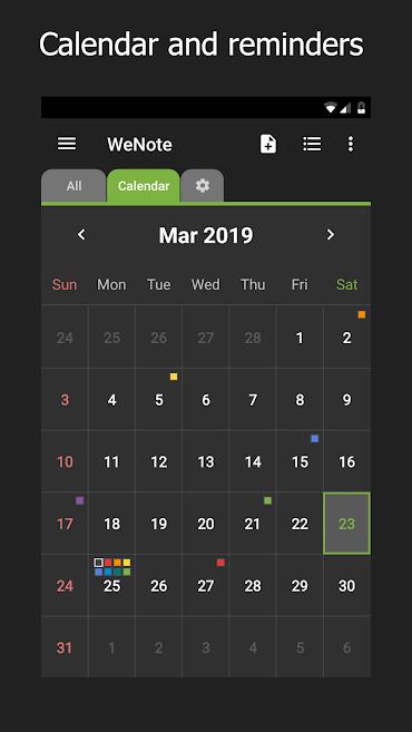 دانلود WeNote - Color Notes, To-do, Reminders & Calendar FULL 2.30 - ابزار یادداشت برداری آسان و پر امکانات وی نوت اندروید!