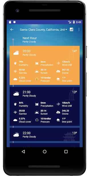 دانلود Weather Forecast Pro: Timeline, Radar, MoonView 3.20.02.03 - برنامه هواشناسی پیشرفته و هوشمند اندروید !