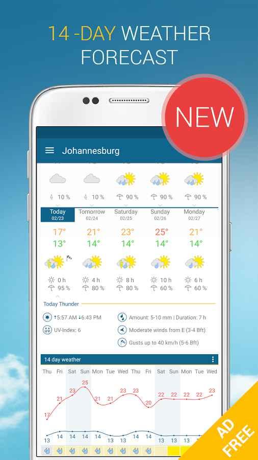 دانلود Weather & Radar Pro Ad-Free 4.39.0 - برنامه دقیق هواشناسی اندروید