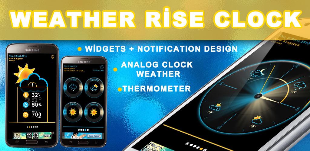 Weather Rise Clock 30+ Widgets PRO