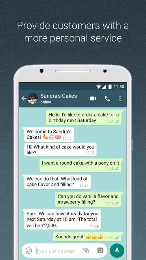 دانلود WhatsApp Business 2.19.29 - برنامه واتساپ بیزنس اندروید + بتا