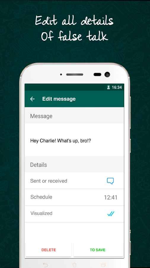 دانلود WhatsFake Pretend Fake Chats Pro 2.5.14 - اپلیکیشن ایجاد چت جعلی واتس آپ اندروید !