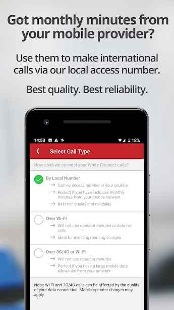 دانلود White Calling 3.3 - برنامه برقراری تماس جهانی مخصوص اندروید