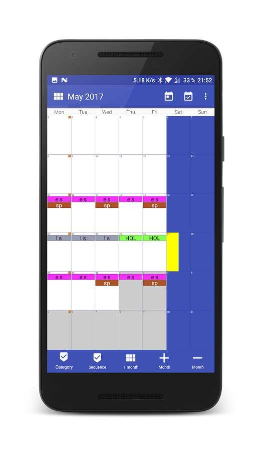 Work Calendar Android
