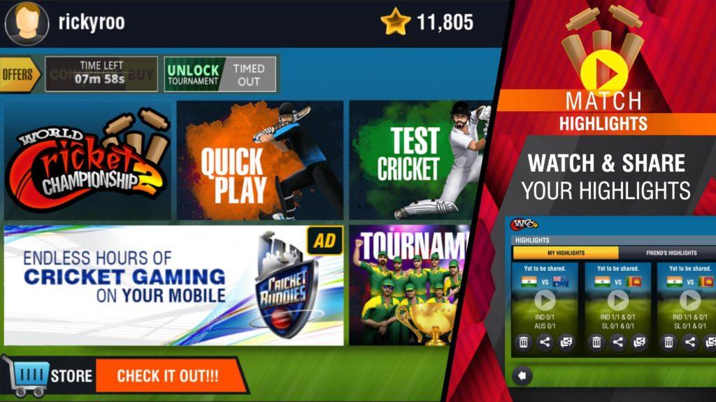 دانلود World Cricket Championship 2 2.8.3.2 - بازی مسابقات جهانی کریکت 2018 اندروید + مود + دیتا