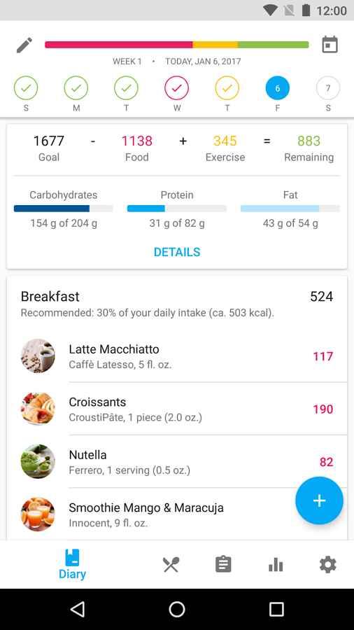 دانلود YAZIO - Calorie Counter Pro 4.4.2 - برنامه محاسبه گر دقیق کالری اندروید