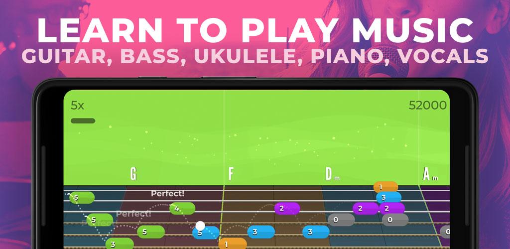 Yousician Guitar, Piano & Bass Premium