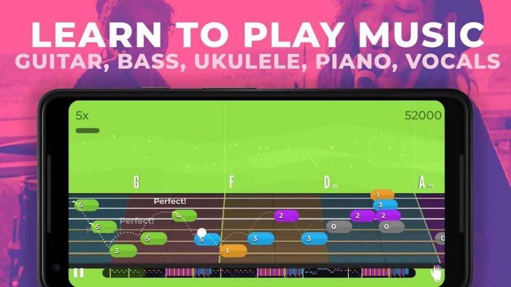 دانلود Yousician Guitar, Piano & Bass Premium 3.18.0 - برنامه نوآورانه آموزش موسیقی اندروید!