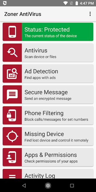 دانلود Zoner Mobile Security 1.15.5 - آنتی ویروس قوی زونر مخصوص اندروید!