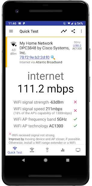 دانلود analiti - WiFi Tester & Analyzer Premium 8.2.20282 - برنامه تست و آنالیز شبکه وای فای مخصوص اندروید !