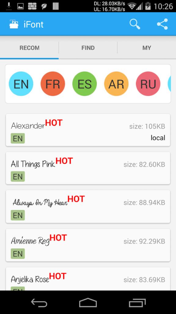 دانلود iFont(Expert of Fonts) Full 5.9.8.4 B-150 - اپلیکیشن فوق العاده