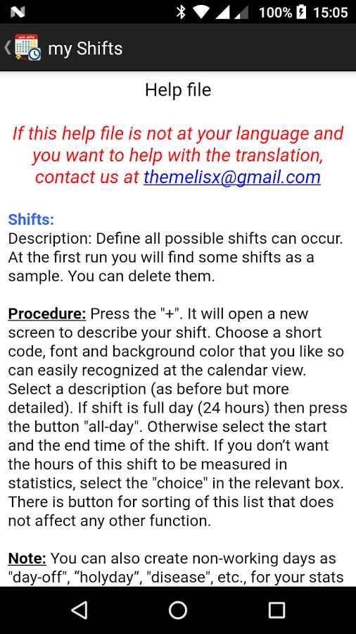 دانلود my work shifts PRO 1.79.0 - برنامه جدول زمانی شیفت کاری اندروید !
