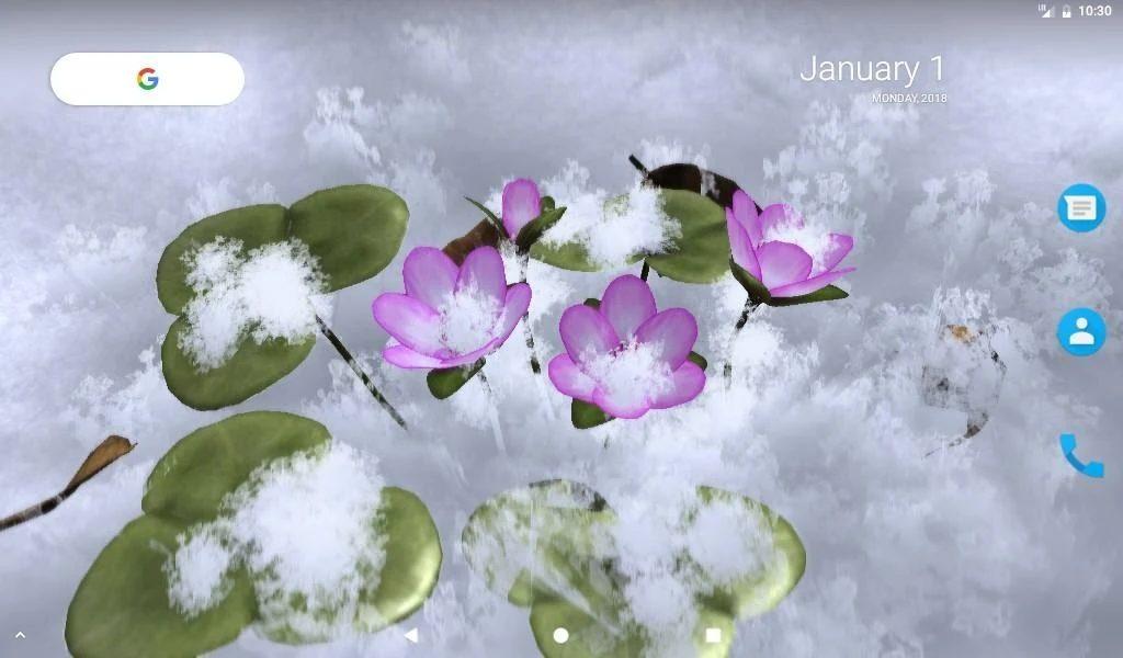 دانلود Yukiwarisou 3D Live Wallpaper Pro 1.41 – لایو والپیپر فوق العاده زیبا از گل ها مخصوص اندروید!