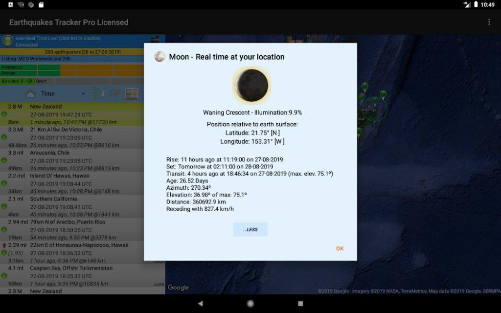 دانلود Earthquakes Tracker Pro 2.4.8 – اپلیکیشن جامع برای مشاهده اطلاعات دقیق و زنده از زمین لرزه در سراسر جهان مخصوص اندروید
