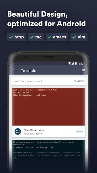 دانلود Termius - SSH/SFTP and Telnet client Premium 4.2.16 – اپلیکیشن کنترل از راه دور سیستم های لینوکسی مخصوص اندروید