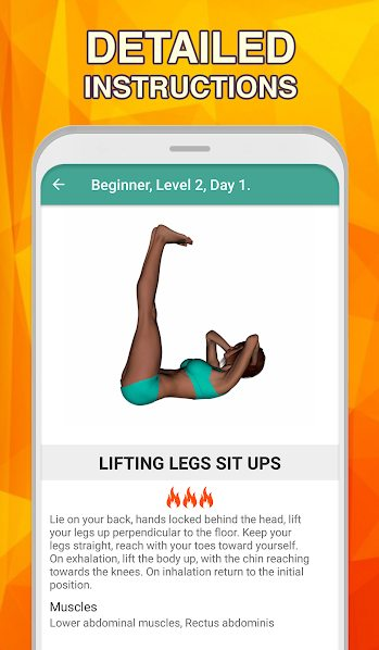 دانلود A 7 minute abs workout - Daily Ab Workout Premium 2.1.1 – اپلیکیشن ساخت شکم عضلانی مخصوص اندروید