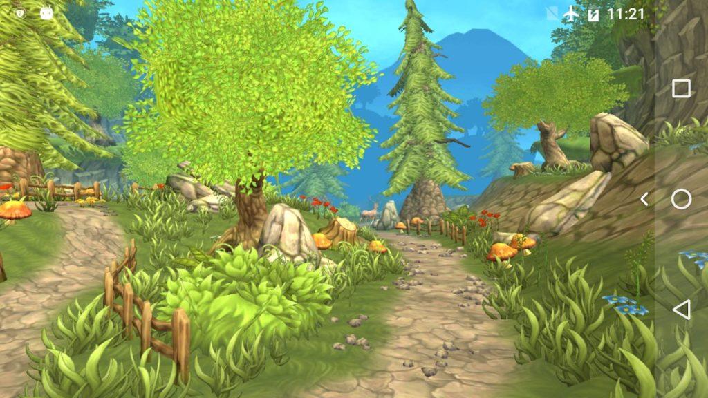 دانلود VA Painted Forest - 3D Live wallpaper 4.0 – لایو والپیپر جنگل کارتونی زیبا مخصوص اندروید