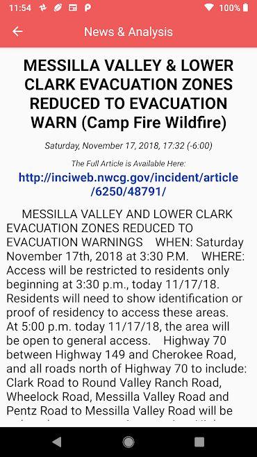دانلود Wildfire - NOAA Fire Map Info 1.5.0-internal – اپلیکیشن اطلاعات آتش سوزی آمریکا مخصوص اندروید