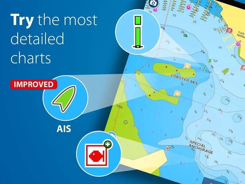 دانلود Boating HD Marine & Lakes Full 11.5 – اپلیکیشن جامع دریانوردی و قایقرانی اندروید